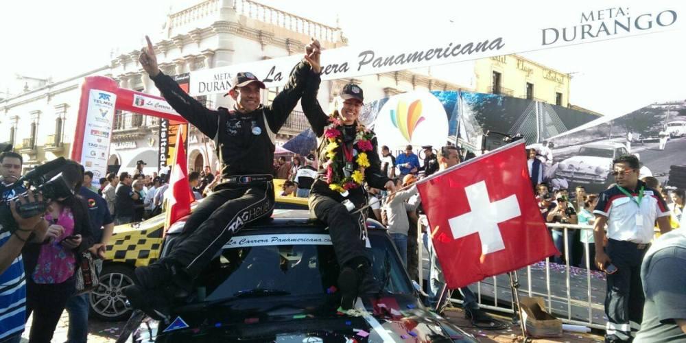 Erik Comas e Isabelle de Sandeleer, campeones absolutos de La Carrera Panamericana