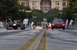 El infiniti Q50 Eau Rouge en Austin, Texas.