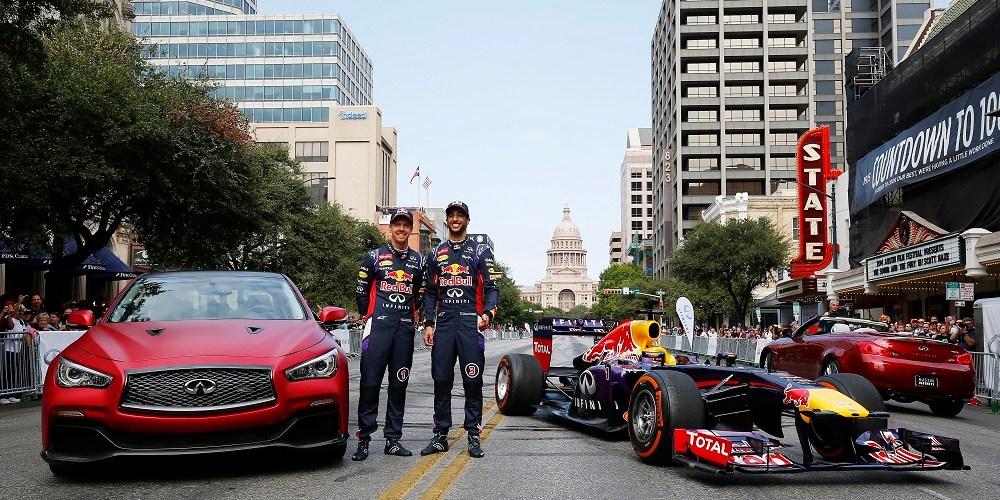 Infiniti inicia el fin de semana del Gran Premio de Estados Unidos con emocionante espectáculo de F1