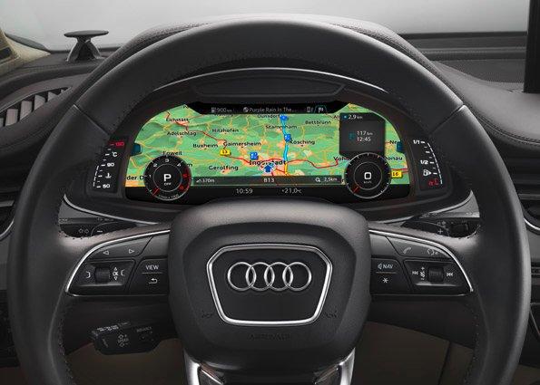 Audi utiliza mapas de navegación para sus sistemas de asistencia al conductor