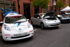 "Nissan celebrates during ""National Drive Electric Week"""