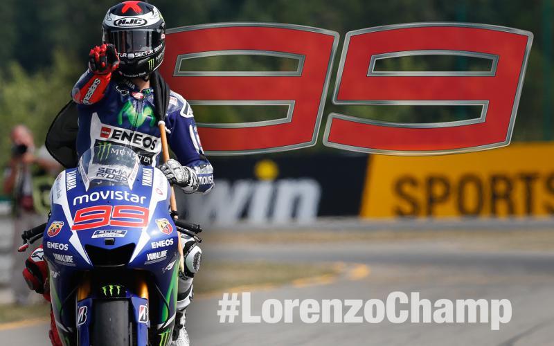 Jorge Lorenzo consigue su tercer titulo mundial en MotoGP