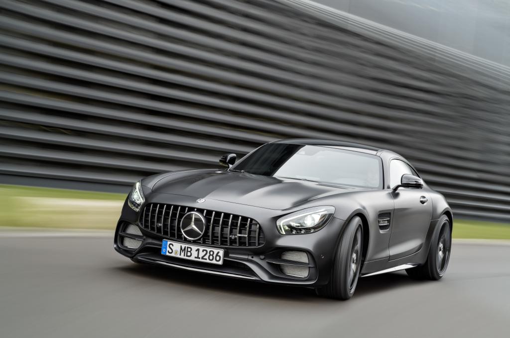 Mercedes-AMG GT C Edition 50, graphitgrau magno, Fahraufnahme ;Kraftstoffverbrauch kombiniert: 11,3 l/100 km, CO2-Emissionen kombiniert: 257 g/km Mercedes-AMG GT C Edition 50, graphite grey magno, driving shot; Fuel consumption combined: 11.3 l/100 km; Combined CO2 emissions: 257 g/km