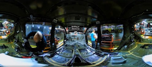 Un video de 360 grados explora los diversos procesos involucrados en la producción del cien por ciento eléctrico Nissan LEAF.