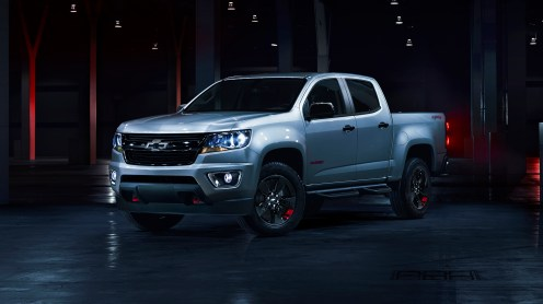The Colorado Redline edition features red tow hooks, black mirror caps and a spray-in bedliner, showcasing the rugged utility Chevrolet truck buyers expect. All Redline vehicles will be available for purchase by the end of 2017 calendar year.