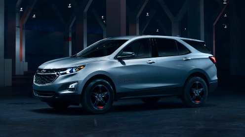 Offered on the LT trim level, Equinox Redline edition features black wheels with distinct red hash marks, bowtie logos, black nameplates with red outline, and black grill and surround. Availability will be cadenced, and all Redline vehicles will be available for purchase by the end of 2017 calendar year.