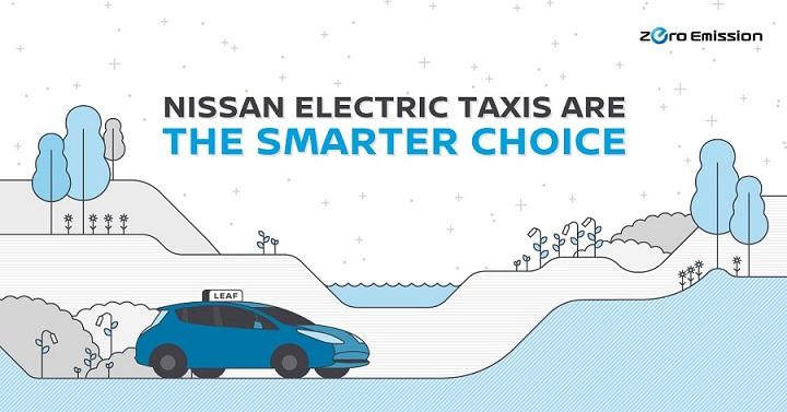Nissan lidera la revolución mundial de taxis eléctricos