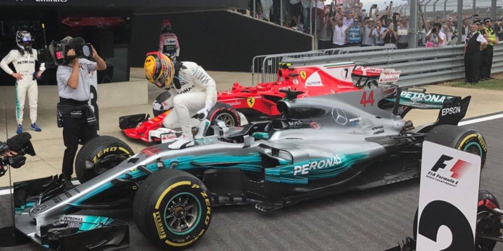Hamilton profeta en su tierra y a un punto de liderar el campeonato