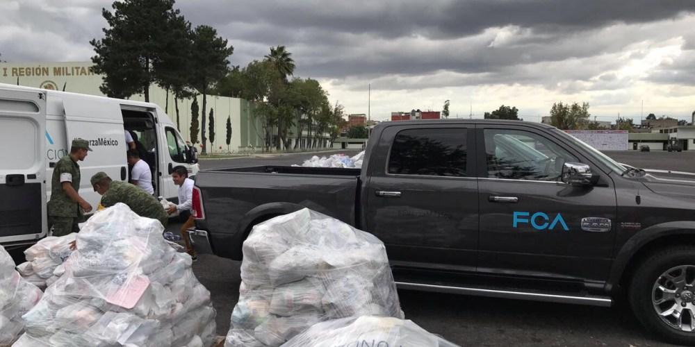 FCA México dona 10 toneladas de víveres y productos de limpieza