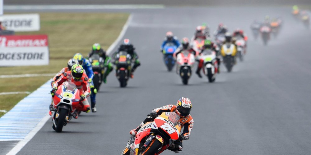 MOTEGI,JAPAN,11.OCT.15 - MOTORSPORT - MotoGP, Grand Prix of Japan, Twin Ring Motegi. Image shows Dani Pedrosa (ESP/ Honda). Photo: GEPA pictures/ Gold and Goose/ Gareth Harford - For editorial use only. Image is free of charge.