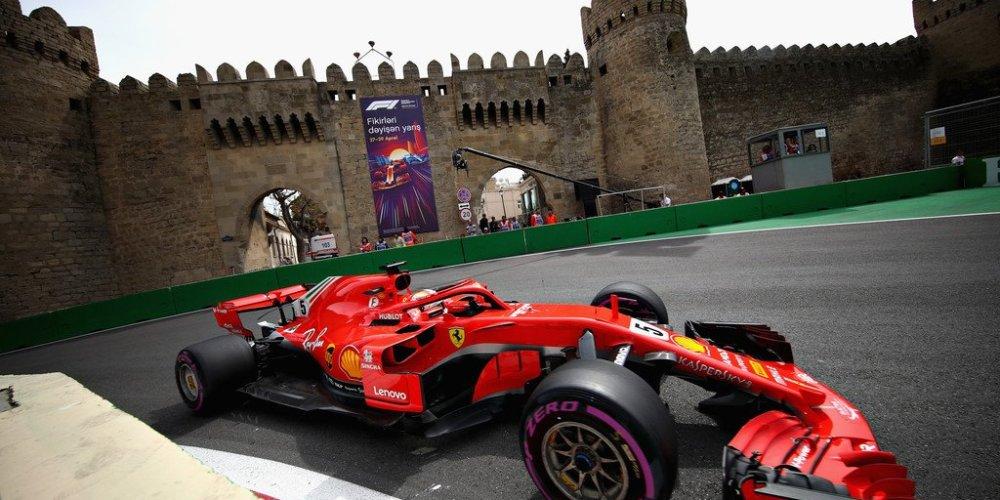 Un Vettel imparable consigue la pole en Bakú