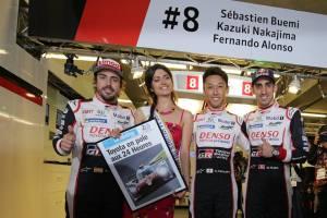 Alonso, Buemi y Nakajima consiguen pole para Toyota en Le Mans
