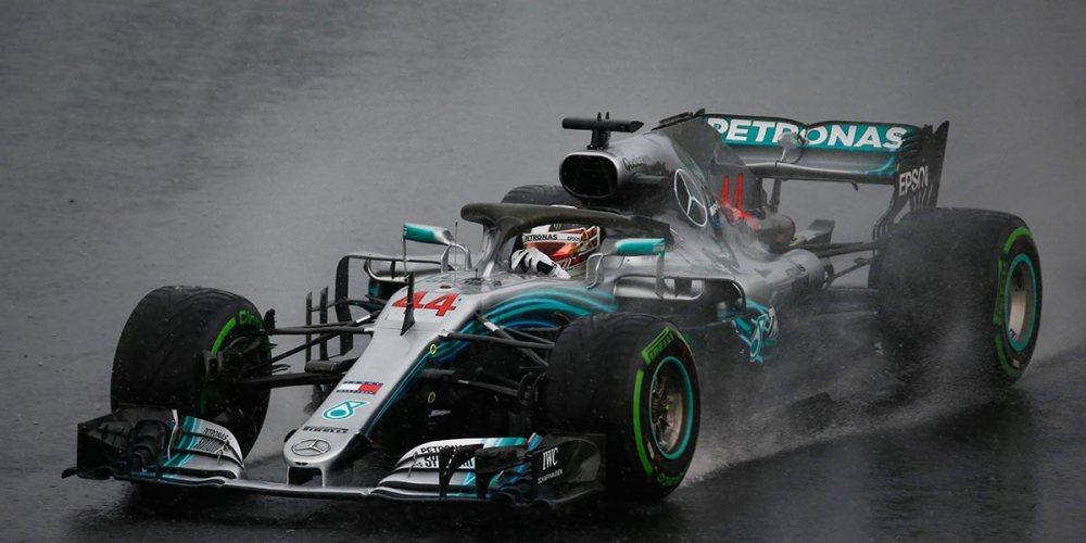 Hamilton conquista la pole bajo la lluvia de Hungría