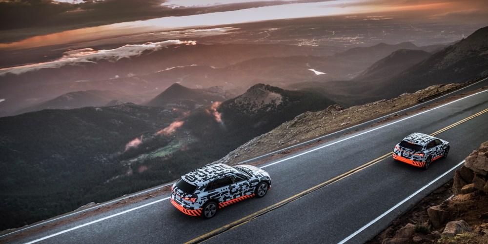 Audi e-tron prototype: prueba de recuperación de energía en Pikes Peak