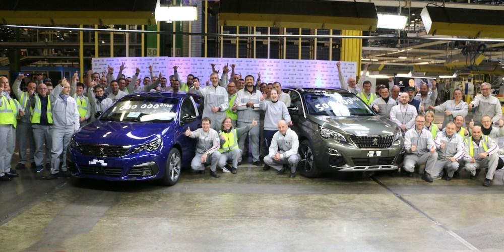 Peugeot está de fiesta: 500 mil SUV 3008 y un millón de 308 producidos en Sochaux