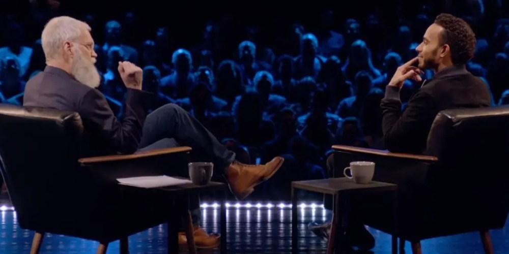 Un Lewis Hamilton muy humano con David Letterman