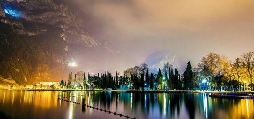 Lake Garda at night, Italy
