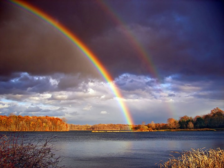 """""""Be thou the rainbow in the storms of life. The evening beam that smiles the clouds away, and tints tomorrow with prophetic ray,"""" ~ quote by Lord Bryon. Photo #11 by Nicholas A. Tonelli"""