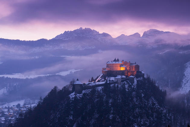 Werfen castle in Austria. Photo by Goran Jovic.