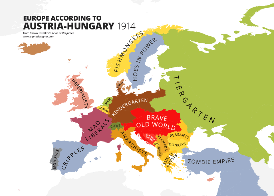 Austrian Women Stereotypes Maps Mocking National ...