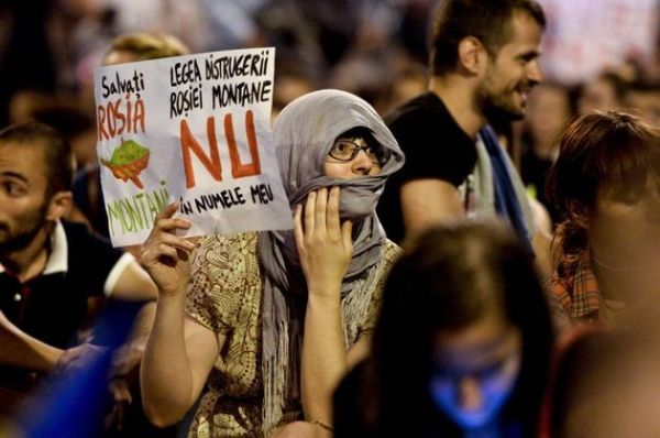 ROSIA MONTANA - EXPLOATARE MINEREURI - PROTEST - BUCURESTI