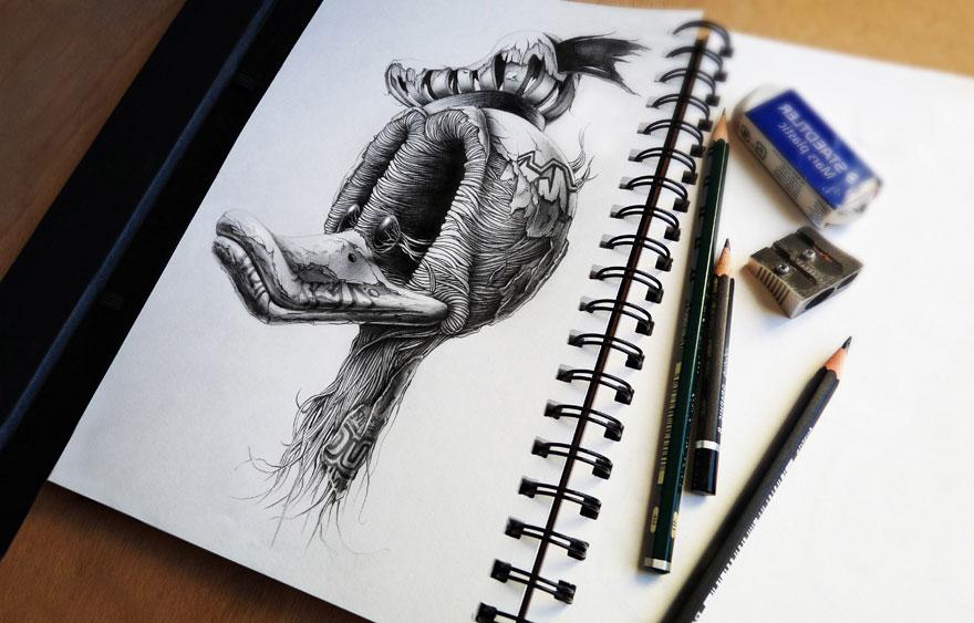 Distroy Creepy Pencil Drawings Of Famous Cartoon