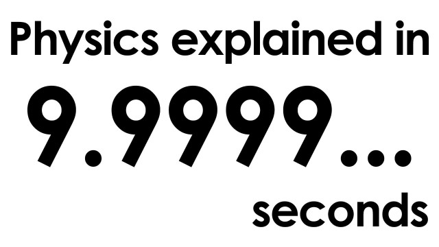 Physics explained in ten seconds (Part 2: 5 videos