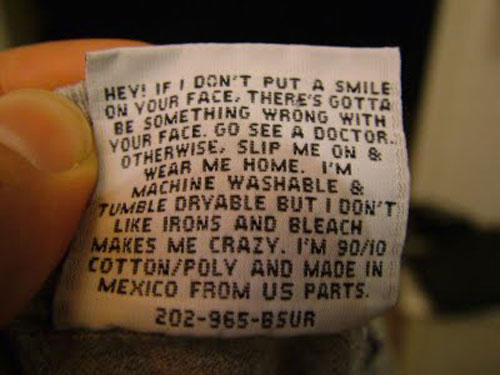 Funny Instructions On The Clothes Care Labels 12 Pictures