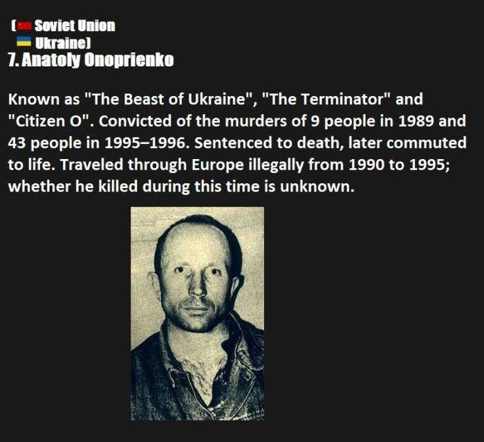 Top Ten Serial Killers Memolition