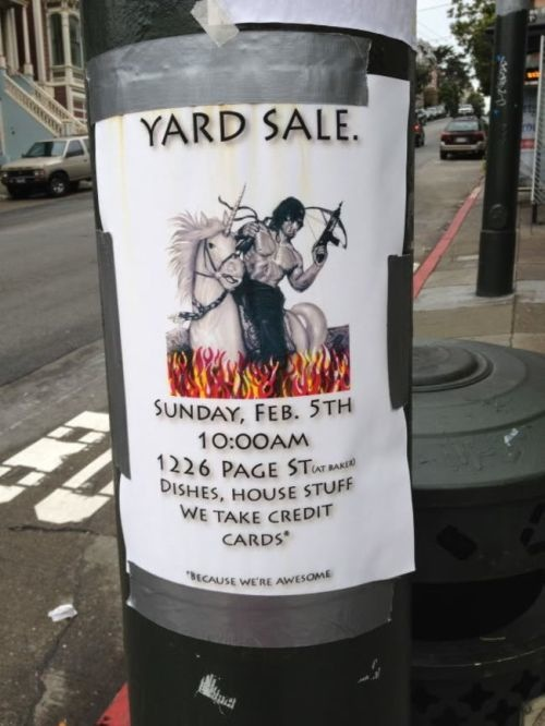 make yard sale signs