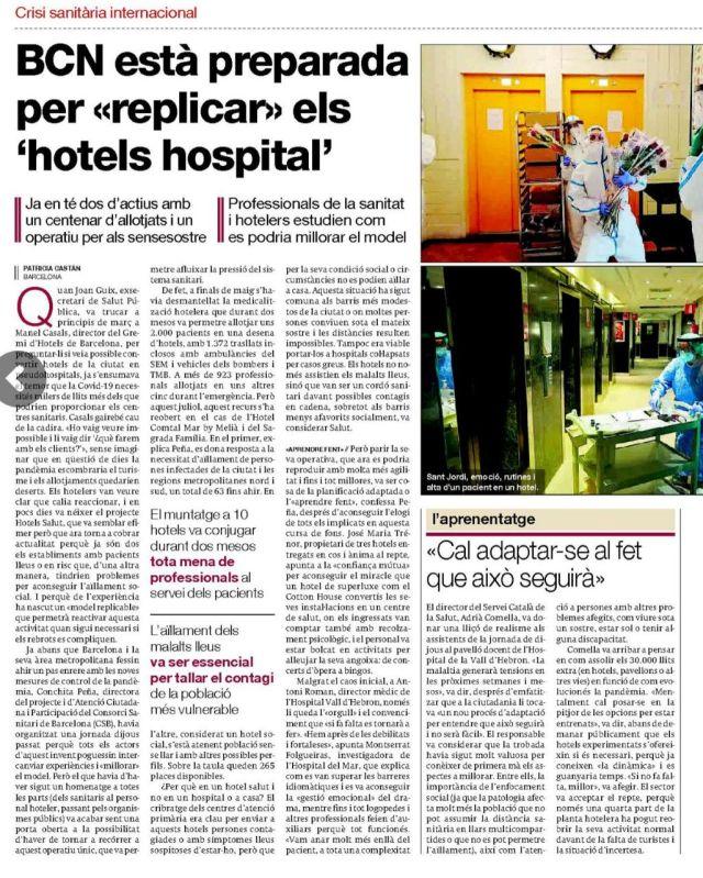 Notícia: BCN està preparada per 'replicar' els 'hotels hospitals'