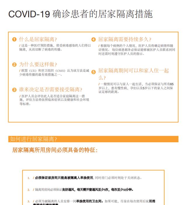 Cartell: Aïllament domiciliaris de casos positius de COVID-19 en xinés