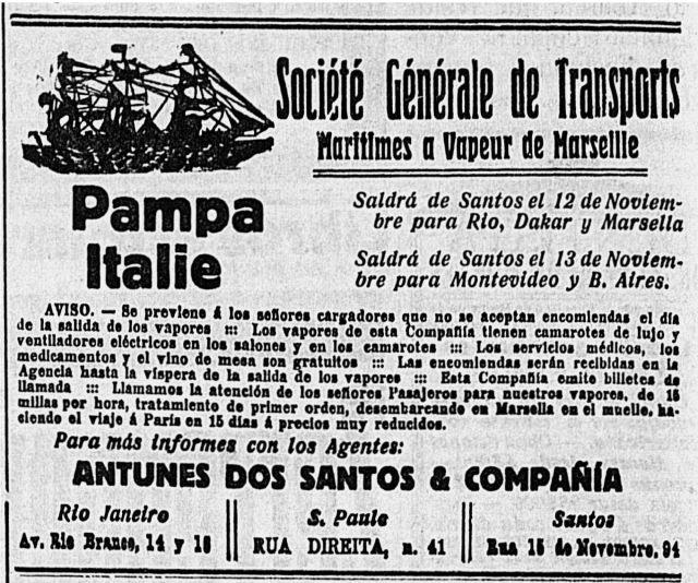 (Anuncio rutas SGTM 7 de noviembre, 1913)