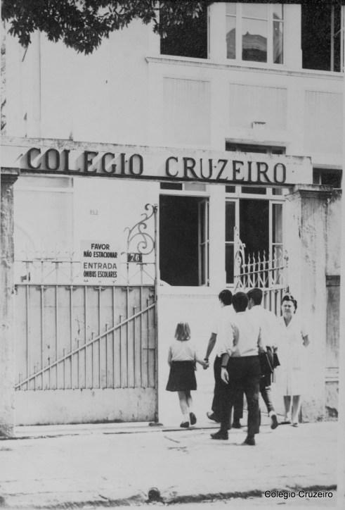 1964 - Entrada principal do Colégio Cruzeiro