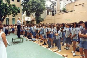 1999 - Momento Cívico - Abertura do ano letivo de 1999 no Colégio Cruzeiro - Centro