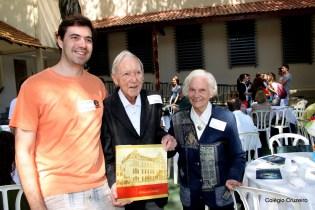 2013 - Ex-aluno da turma de 1929, Ferdinand Lauer (no centro), durante Dia do Ex-aluno do Colégio Cruzeiro - Centro