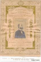 1898 - Folha comemorativa aos 25 anos do Diretor e Pastor Dr. Carl Max Gruel