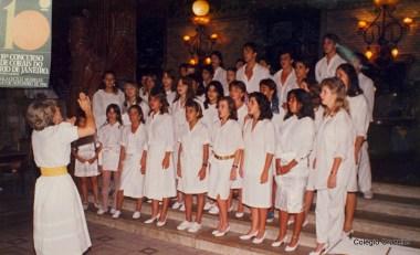 1986 - Participação do Coro no 10º Concurso de Corais do Rio de Janeiro
