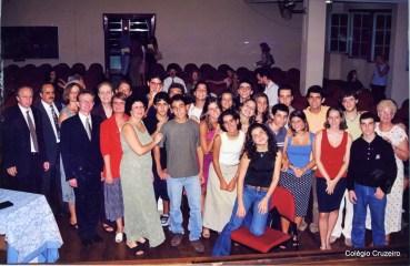 2001 - Cerimônia de entrega de diplomas DSDI no Colégio Cruzeiro - Centro