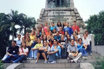 2003 - Turma do Colégio Cruzeiro - Centro visita o Centro do Rio