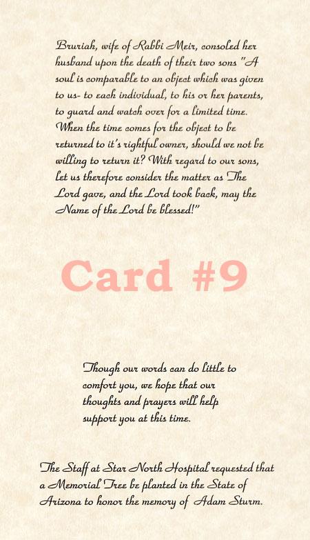 Sample Sympathy Cards  Memorial Trees