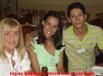 """1º Encontro de Confraternização da """"Velha Guarda"""" da Polícia Civil do Estado de São Paulo, no Restaurante Fuentes, em 25/10/13. Escrivã Terezinha Tucci e filhos do Investigador Fininho 2."""
