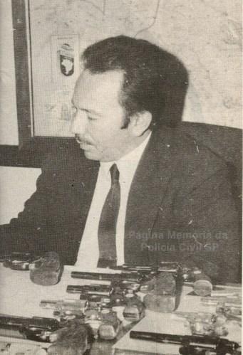 """Delegado de Polícia da RUDI, José Carlos Batista, o """"Zebu"""". Era campeão brasileiro de braço de ferro. Faleceu ainda muito novo. Foi um dos Delegados que marcaram época na RUDI, tendo como Chefe dos Investigadores, Washington Gomes de Campos, o """"Campinho"""", nas décadas de 60 e 70."""
