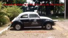 """Viatura marca VW- Sedan, o """"Fusca"""", muito utilizado na polícia nas décadas de 60, 70 e 80. (acervo de Luan Muniz)."""