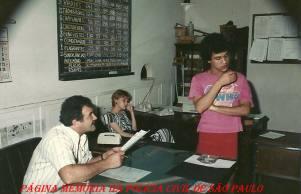 """Delegacia de Repressão à Vadiagem da DIG- DEIC, na década de 80. Delegado Titular Jair de Castro Oliveira Vicente """"in memorian"""", Agente de Telecomunicações (?) e (?)."""