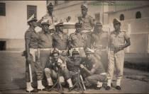 Componentes do Grupo de Choque da extinta Polícia Marítima em 1960, nos fundos do quartel da Avenida Conselheiro Nébias.
