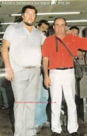Investigador de Polícia Santão e um policial civil de Vitória/ Espírito Santo, na década de 80.