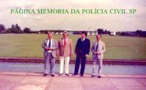 Em Brasilia, por ocasião, do lobby da Constituinte, em 1988, Delegados de Polícia Zair Dornaika, Luiz Antonio, Ivaney Caires e Sergio Baffi.