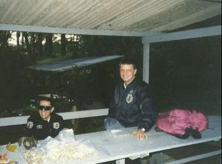 Os saudosos Delegados de Polícia Supervisores do GOE, Sérgio Ricardo Guarda e Luciano Heitor Beiguelman, na década de 90. (acervo do Investigador Xandao Martins Alexandre Martins).