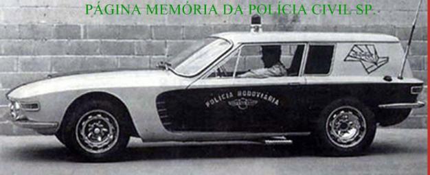 Viatura Uirapurú da estinta Polícia Rodoviária, na decada de 60.